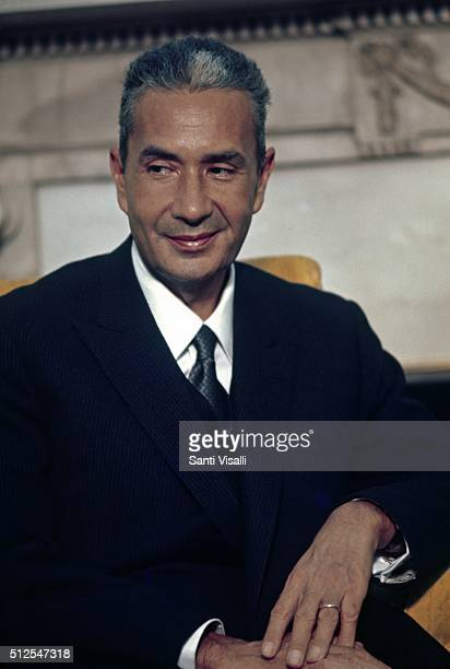 Italian Prime Minister Aldo Moro posing for a portrait on October 9 1969 in Toronto Canada