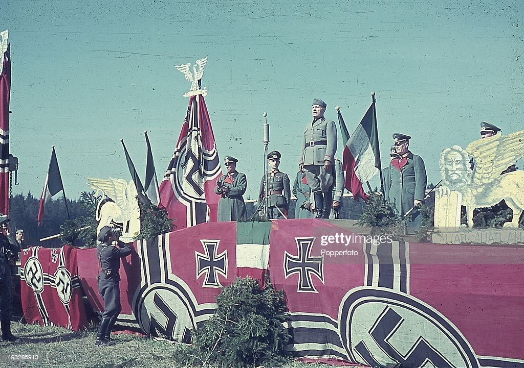 Mussolini On The Eastern Front : News Photo