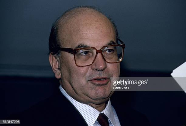 Italian Prime Minister Bettino Craxi during an interview on September 5, 1988 in New York, New York.