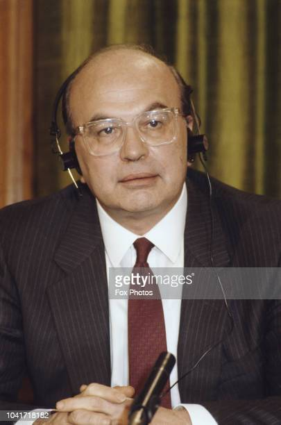 Italian Prime Minister Bettino Craxi , during the Anglo-Italian Summit in London, UK, 11th February 1987.