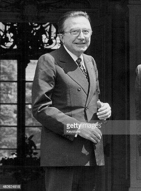Italian Prime Minister Giulio Andreotti attending the European Summit in Strasbourg France circa 19731979