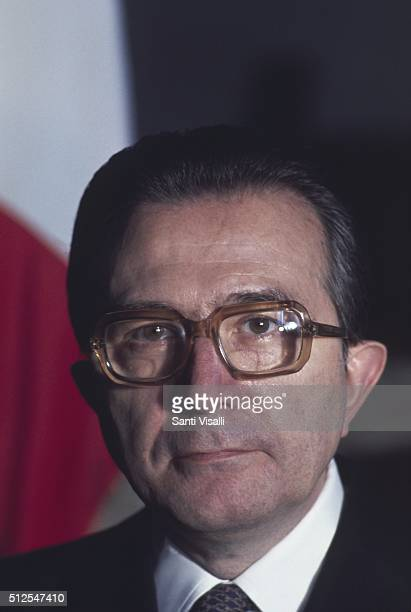 Italian Prime Minister Giulio Andreotti posing for a portrait on July 20 1977 in Rome Italy