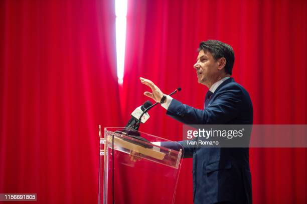Italian Prime Minister Giuseppe Conte attends the graduation ceremony of the Apple Developer Academy of the Federico II University of San Giovanni on...