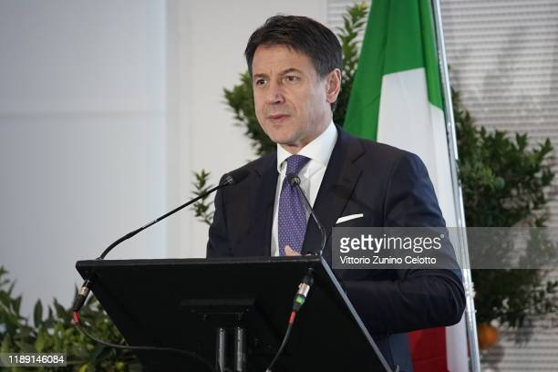 Italian Prime Minister Giuseppe Conte attends the World Forum On Urban Forests Calling 2019at Triennale di Milano on November 21, 2019 in Milan,...
