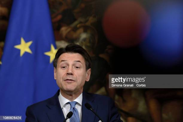 Italian Prime Minister Giuseppe Conte during the Meeting at Palazzo Chigi with the Prime Minister of the Federal Democratic Republic of Ethiopia on...