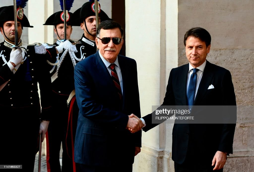 ITALY-LIBYA-POLITICS-DIPLOMACY-CONFLICT : News Photo