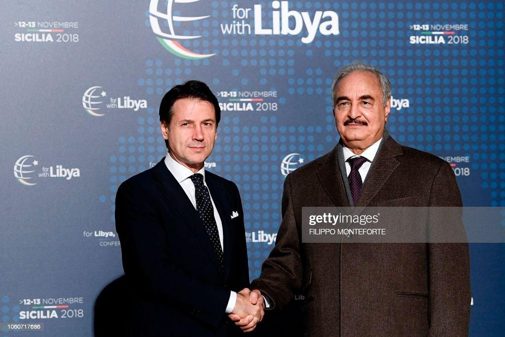 ITALY-LIBYA-POLITICS-DIPLOMACY-CONFLICT-PEACE-CONFERENCE : News Photo