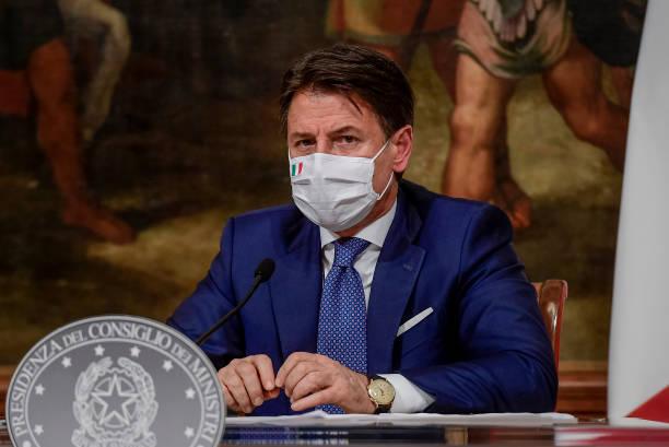 ITA: Prime Minister Giuseppe Conte Press Conference On New Covid-19 Measures