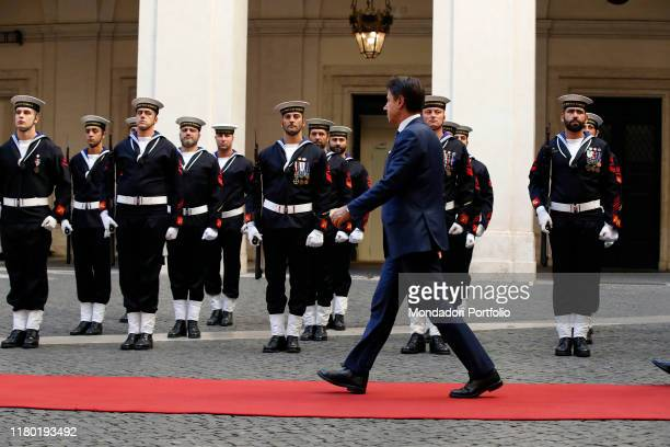 Italian Prime Minister Giuseppe Conte meets NATO Secretary General Jens Stoltenberg at Palazzo Chigi. Rome , October 9th, 2019