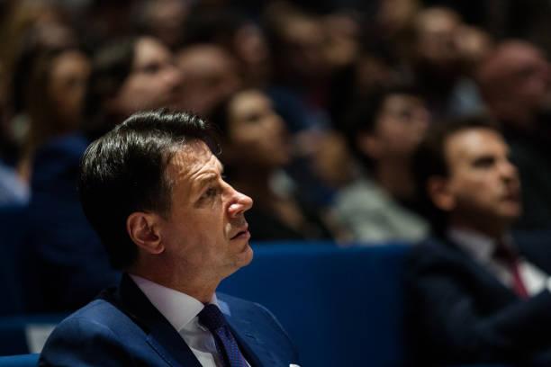 ITA: Italian Prime Minister Giuseppe Conte In Naples