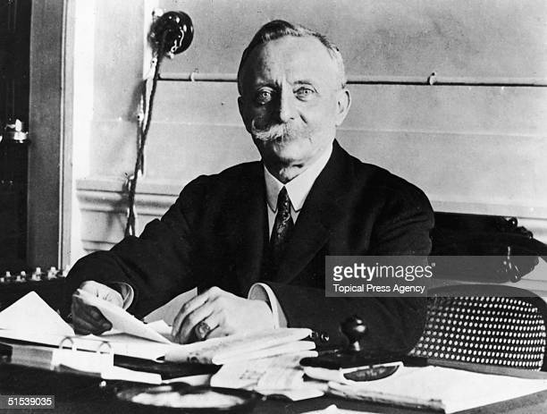 Italian prime minister Luigi Facta at the Genoa Conference where he acted as president, April 1922.