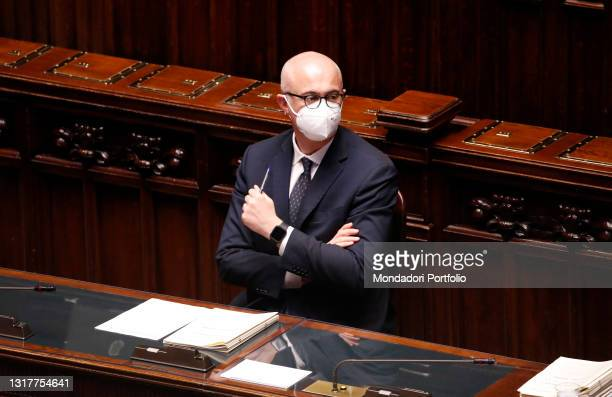 Italian Prime Minister, Mario Draghi answers the Question time in the Chamber of Deputies. In photo Federico D'Incà. Rome , May 12th, 2021