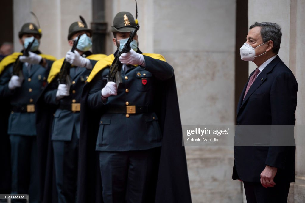 Mario Draghi Sworn In As New Italian Prime Minister : News Photo