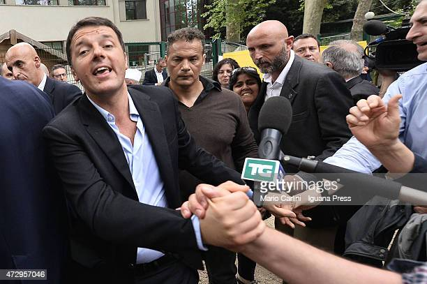Italian Prime Minister Matteo Renzi meet the supporters of his Democratic Party after his speech during the 70thFesta Dell'Unita's closing ceremony...