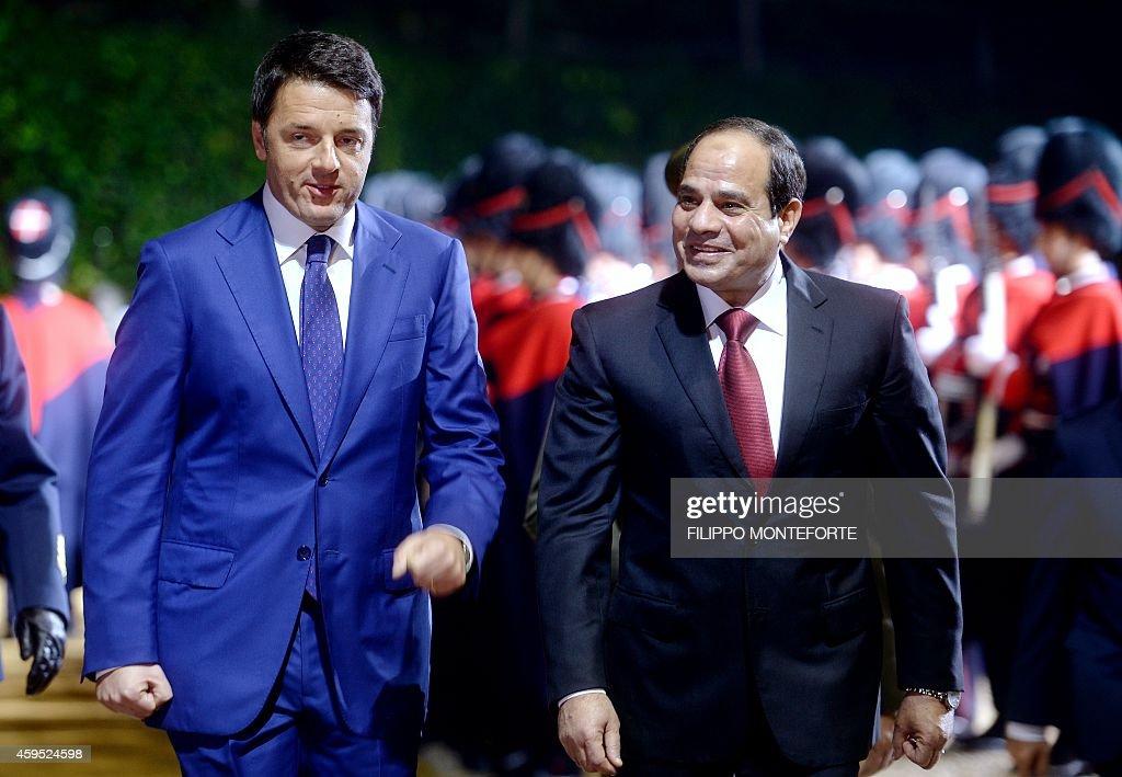 ITALY-EGYPT-RENZI-AL SISI : Nachrichtenfoto