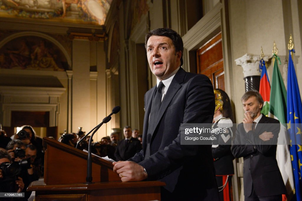 Italian Prime Minister Matteo Renzi Announces His New Government
