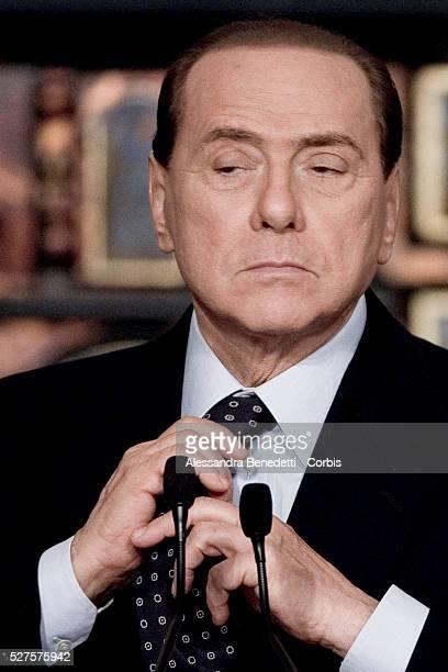 Italian Prime Minister Silvio Berlusconi attends end of year press conference at Villa Madama