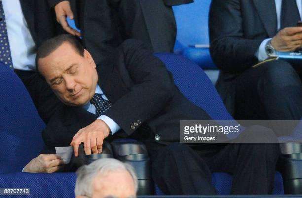 Italian Prime Minister Silvio Berlusconi attends the 2009 Mediterranean Games opening ceremony on June 26 2009 in Pescara Italy