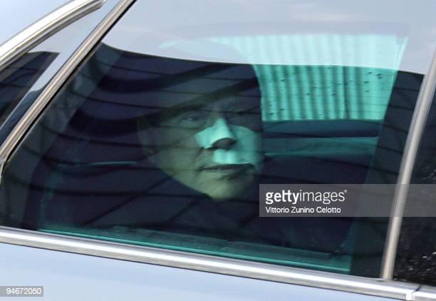 Italian Prime Minister Silvio Berlusconi departs San Raffaele Hospital on December 17, 2009 in Milan, Italy. Silvio Berlusconi has spent four nights...
