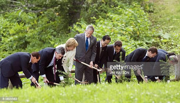 Italian Prime Minister Silvio Berusconi British Prime Minister Gordon Brown German Chancellor Angela Merkel US President George W Bush Japanese Prime...
