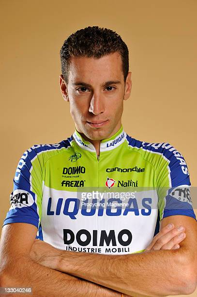 Italian pro cyclist Vincenzo Nibali during a portrait shoot, Milan, October 15, 2010.