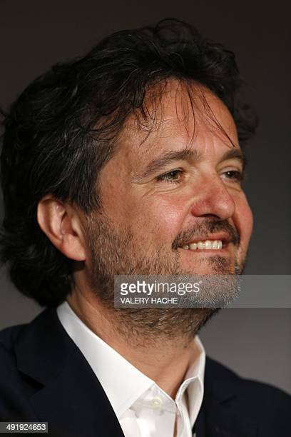 Italian producer Carlo CrestoDina attends a press conference for the film Le Meraviglie at the 67th edition of the Cannes Film Festival in Cannes...