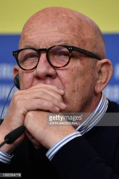 Italian producer Carlo degli Esposti attends a press conference for the film Volevo Nascondermi screened in competition at the 70th Berlinale film...