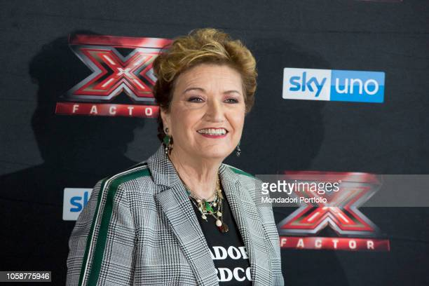 Italian producer Mara Maionchi at the press conference of X Factor 2018 with the presence of coaches competitors and presenters of Xtra Factor and...