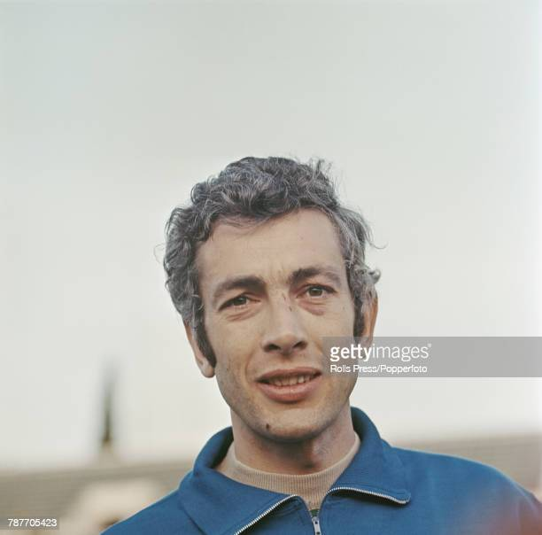 Italian professional footballer and defender with Torino FC Giorgio Puia pictured during a training session in Turin Italy in 1970