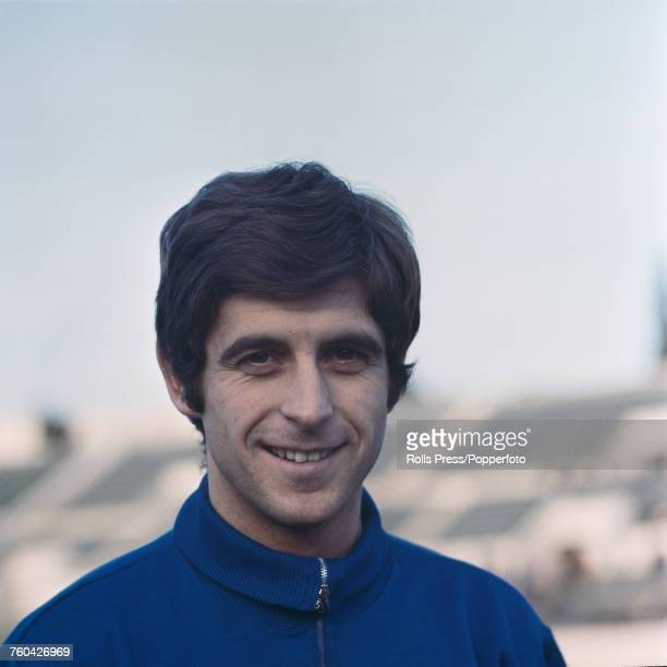 Italian professional footballer and midfielder with A C Milan Gianni Rivera pictured during a training session for the team in Milan in July 1971