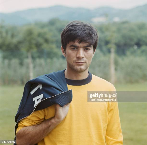 Italian professional footballer and midfielder with SSC Napoli Antonio Juliano pictured during a training session in Italy in 1970