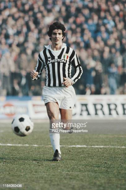 Italian professional footballer Paolo Rossi, striker with Juventus FC, pictured in action during the Serie A match between Juventus and Fiorentina in...