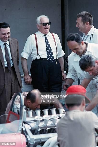 Italian race car driver and entrepreneur Enzo Ferrari is the founder of the Scuderia Ferrari Grand Prix motor racing team and of the Ferrari car...