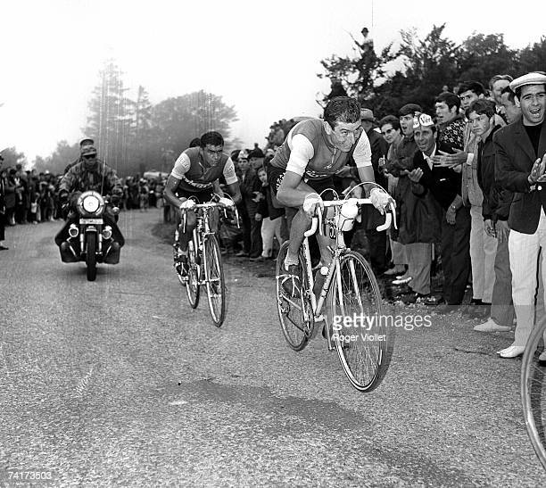 Italian racing cyclist Felice Gimondi competing in the Tour De France 1960s