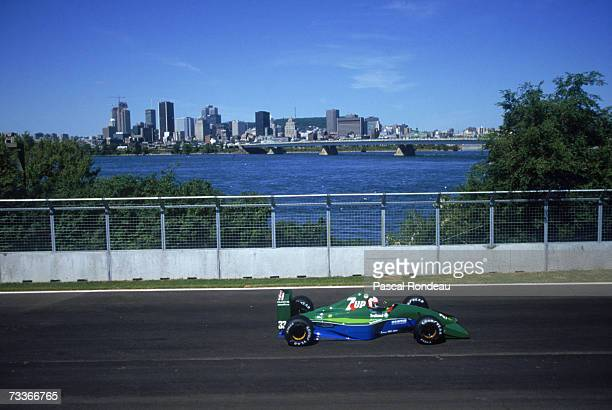 Italian racing driver Andrea de Cesaris driving a JordanCosworth at the Canadian Grand Prix Montreal 2nd June 1991 de Cesaris finished 4th