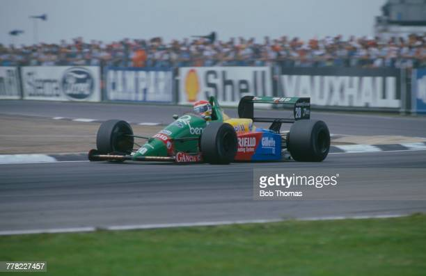 Italian racing driver Emanuele Pirro drives the Benetton Formula Ltd Benetton B188 Ford Cosworth DFR 35 V8 to finish in 11th place in the 1989...