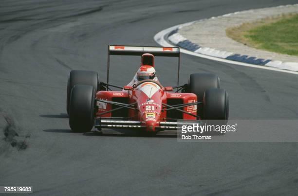 Italian racing driver Emanuele Pirro drives the BMS Scuderia Italia BMS Dallara 190 Ford Cosworth DFR 35 V8 to finish in 11th place in the 1990...