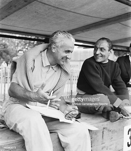 Italian racing driver Luigi Villoresi at the Lausanne Grand Prix in Switzerland 27th August 1949