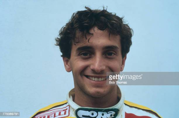 Italian racing driver Pierluigi Martini, driver of the Minardi Team Minardi M185 MM V6, pictured during the 1985 FIA Formula One World Championship...