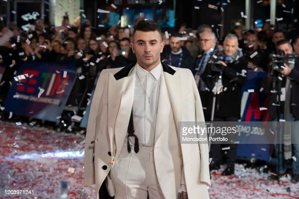 Italian rapper Junior Cally during the opening Red Carpet of the 70 Sanremo Music Festival Sanremo February 3rd 2020