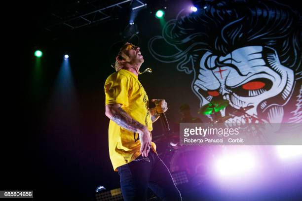 Italian rapper Salmo performs in concert at Atlantico Music Club on May 18 2017 in Rome Italy