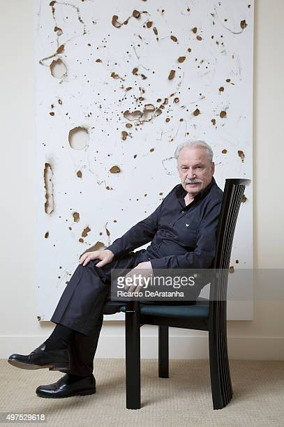 Italian record producer and song writer Giorgio Moroder is photographed for Los Angeles Times on October 28 2013 in Los Angeles California PUBLISHED...