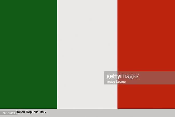 italian republic, italy - bandera italiana fotografías e imágenes de stock