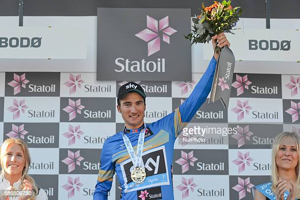 Italian rider Gianni Moscon from Team SKY wins the fourth edition of the Arctic Race of Norway 2016 On Sunday 14 August 2016 in Bodo Norway