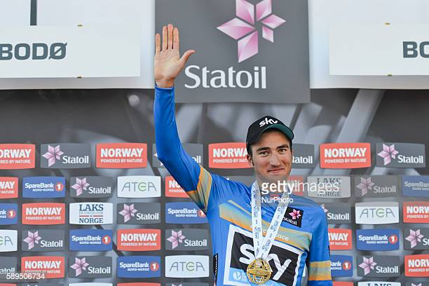Italian rider Gianni Moscon from Tean SKY wins the fourth edition of the Arctic Race of Norway 2016 On Sunday 14 August 2016 in Bodo Norway