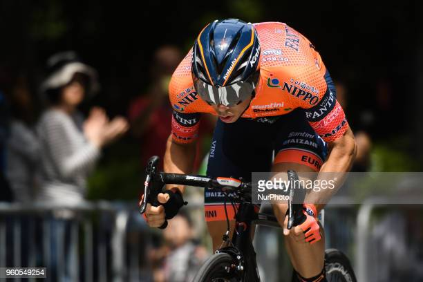 Italian rider Marco Canola from team NippoVini Fantini in action during the opening stage 26km Individual Time Trial in Daisen Park Sakai On Sunday...