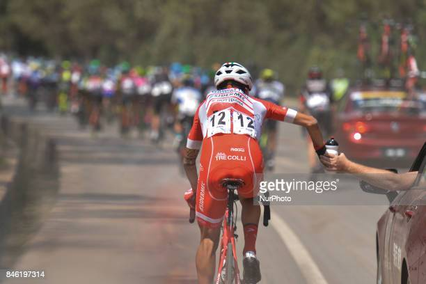 Italian rider Raffaello Bonusi from Androni-Sidermec-Bottecchia team during the second stage Jinzhong A to B race of the 2017 Tour of China 1, the...