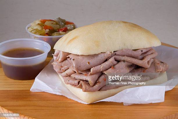 italian roast beef sandwich -  firak stock pictures, royalty-free photos & images