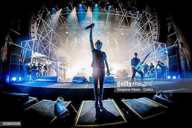 Italian rock band Subsonica performs live for Wired Next Fest at Giardini Indro Montanelli in Milan Italy on May 27 2016