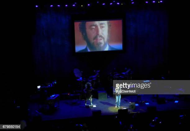 Italian rock singer Zucchero performs at the Saban Theatre in Los Angeles California on March 17 2017
